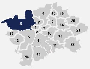 Pohled na mapu internetu na Praze 6