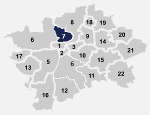 Přehled dostupnosti Internetu Praha 7 na mapě Prahy