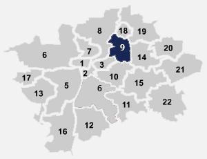 Mapa internetu, kde Internet Praha poskytuje levné připojení k internetu